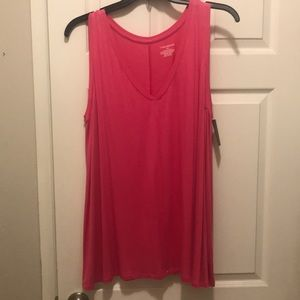 Lane Bryant Bright pink tank 18/20